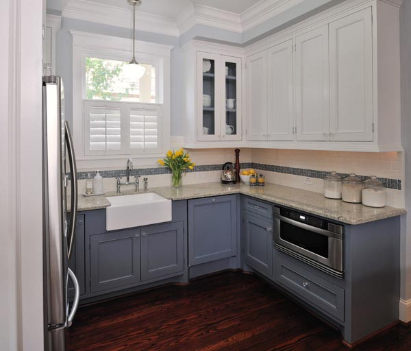 Blue Gray Kitchen Paint: 100 Excellent Small Kitchen Designs That Are Smart & Useful