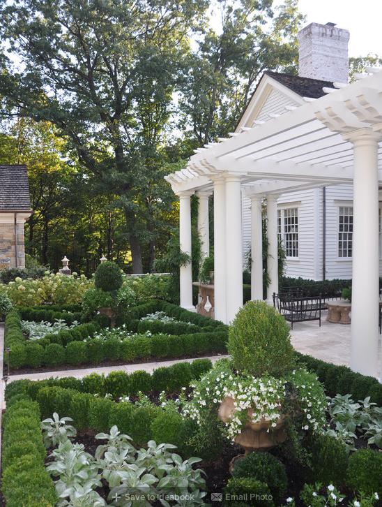 A Classic Country White Garden
