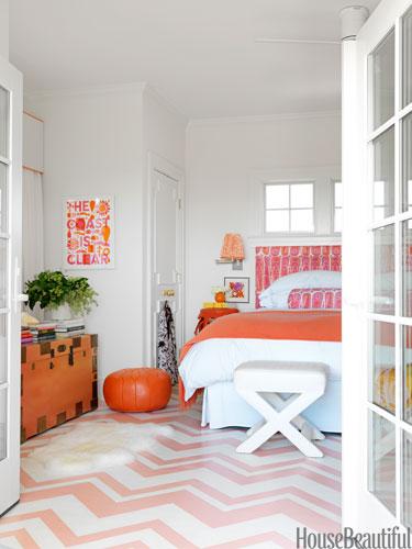 A Pink and Orange Bedroom