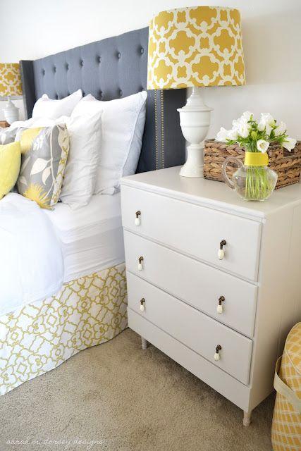 Cute blog with lots of DIY bedroom decor ideas