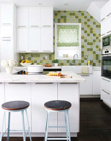 Green Glass Accent Wall