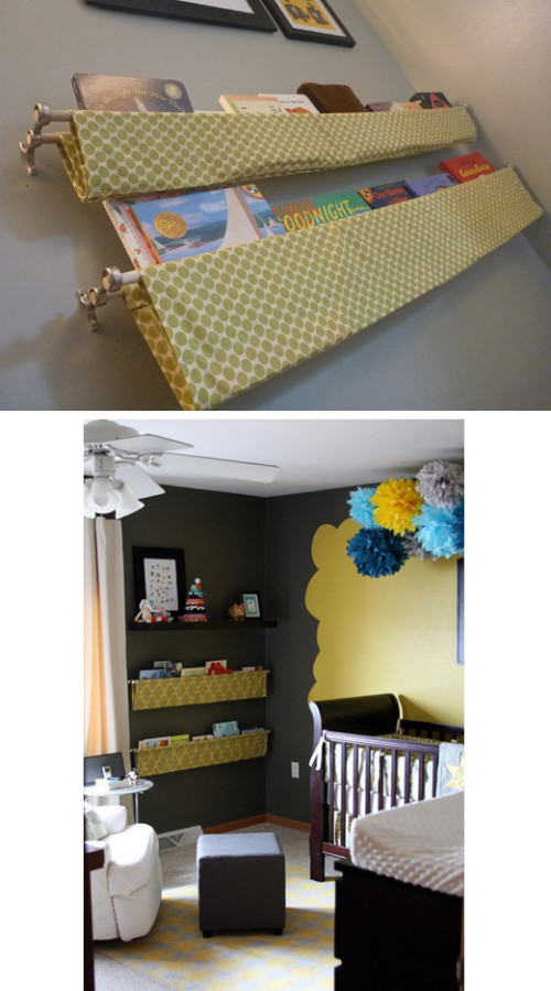 Hanging Fabric Shelves