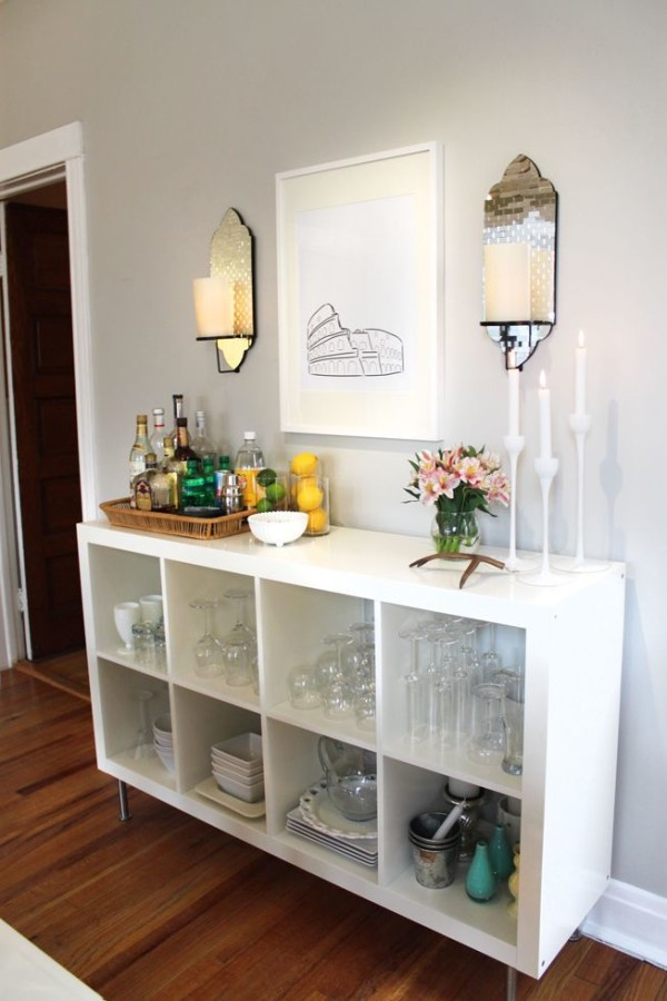 Ikea Expedit as Home Bar!