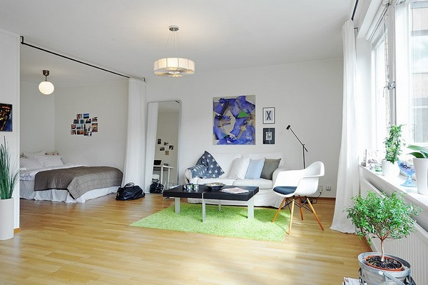 Inspiring All-In-One-Room Apartment in Stockholm