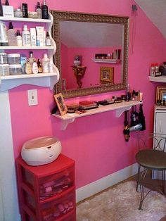 Makeup and hair station idea