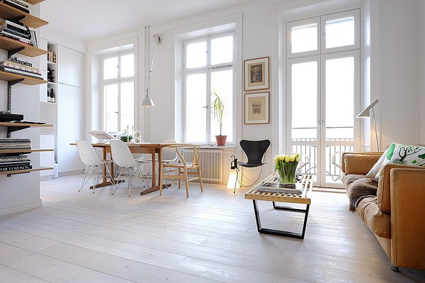 One Room Apartment in Stockholm Showcasing an Ingenious Interior Design