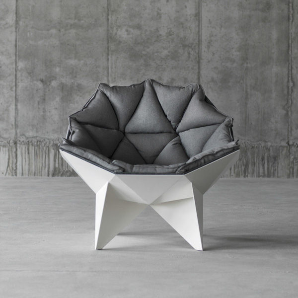 Armchair inspired geodesic dome