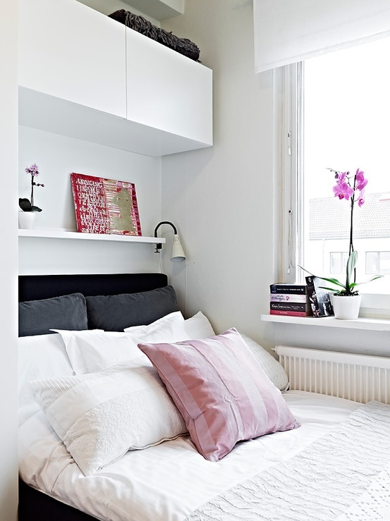 By using the area around your bed for storage, you create new storage space that was previously underutilized. Some simple rearranging and investing in a few inexpensive storage solutions will open a whole new world of storage possibilities in the bedroom.
