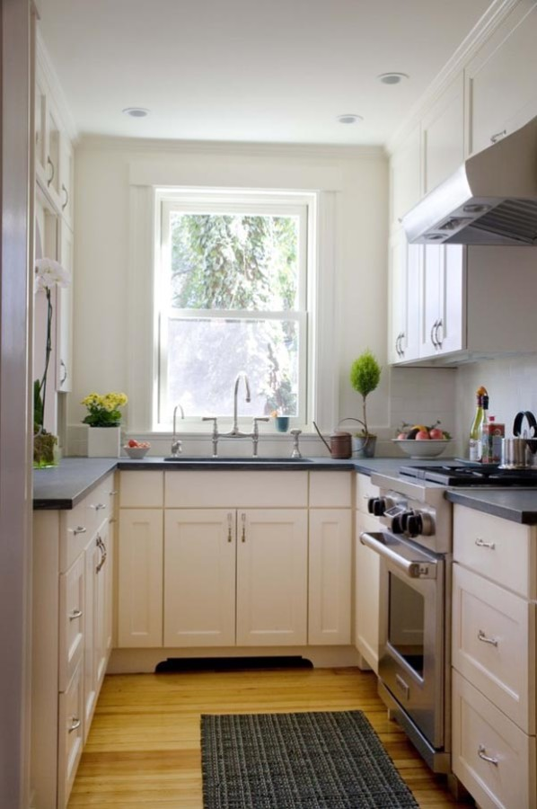 Small Galley Kitchen Design Ideas With White Appliances ~ Excellent small kitchen designs that are smart useful