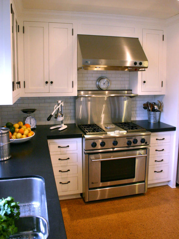 30 kitchen countertop materials that are designed beautifully - Glass kitchen countertops pros and cons ...