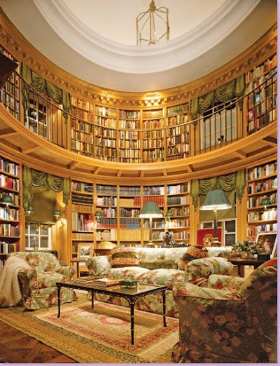 A private library designed by Thierry W. Despont