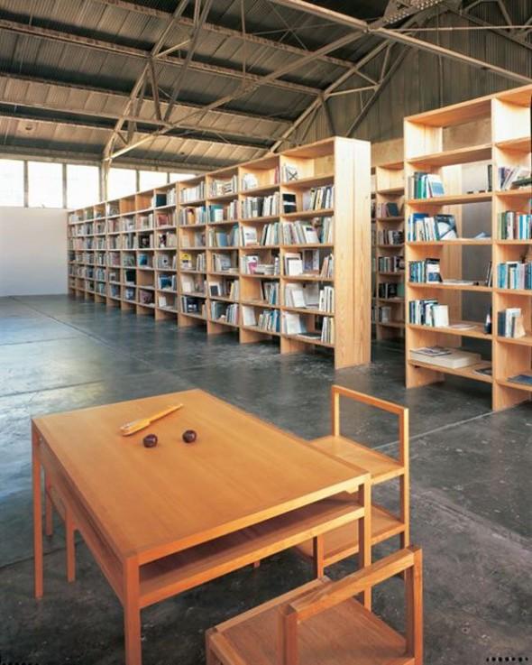 Donald Judd's minimalist library