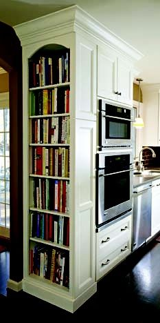 Kitchen built-in bookcase
