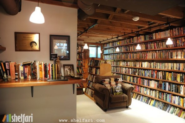Neil Gaiman's home library