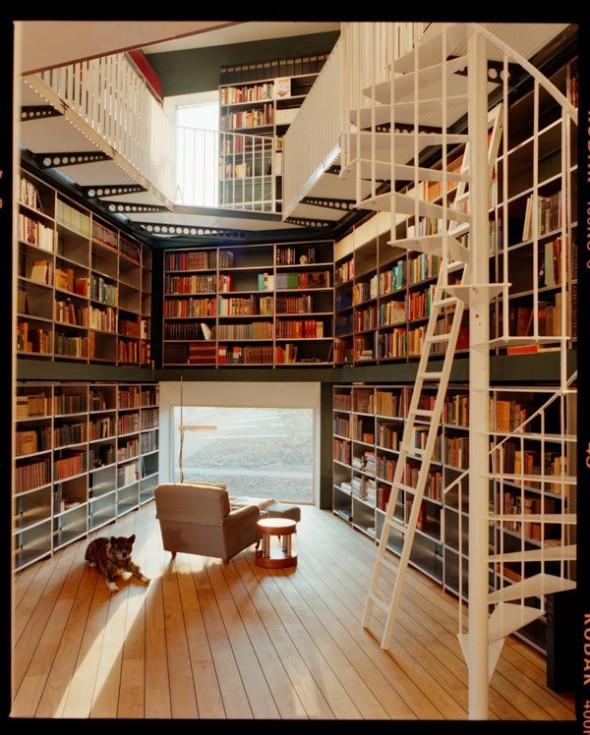 Private library designed by architecture firm Ilai