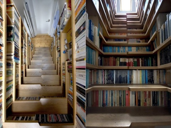 The innovative staircase library