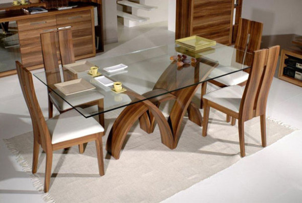 fine dining table designs with glass top