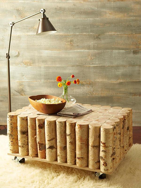 Coffee Table Made Of Tree Log Design