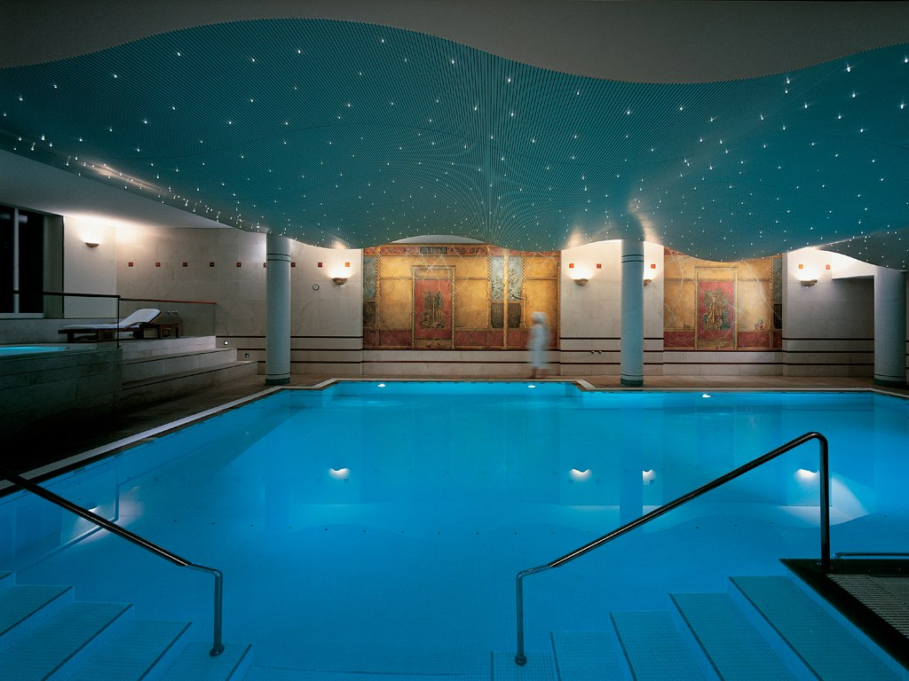 Indoor Pool With Star Ceiling Interior Design Mag