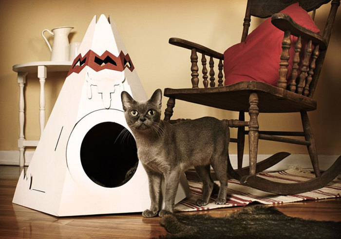Feline wigwam from Loyal Luxe.