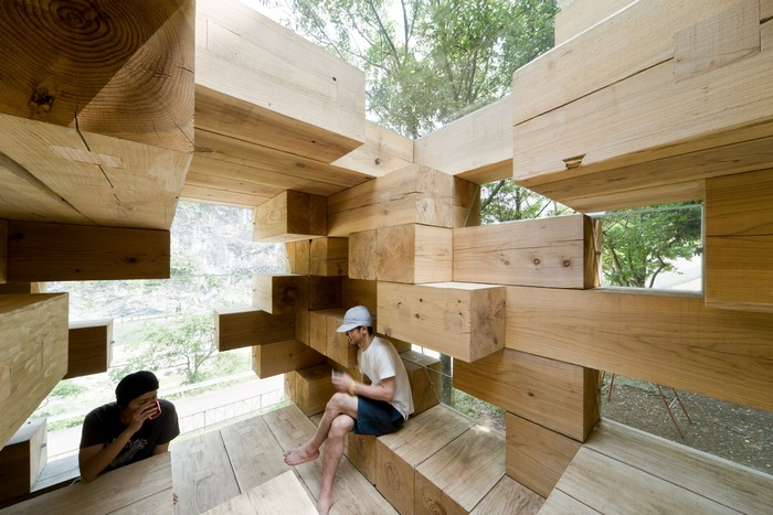 Final Wooden House - amazing wooden house constructor from Sou Fujimoto