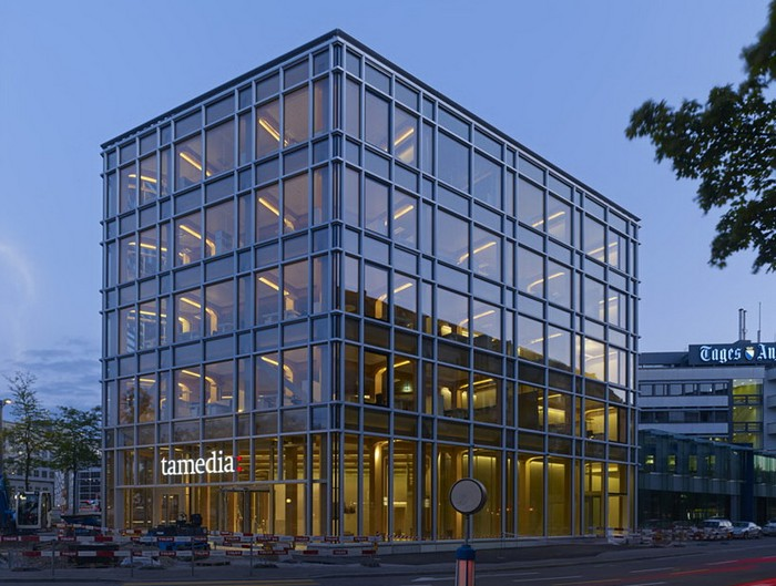 Wooden headquarters Tamedia in Zurich