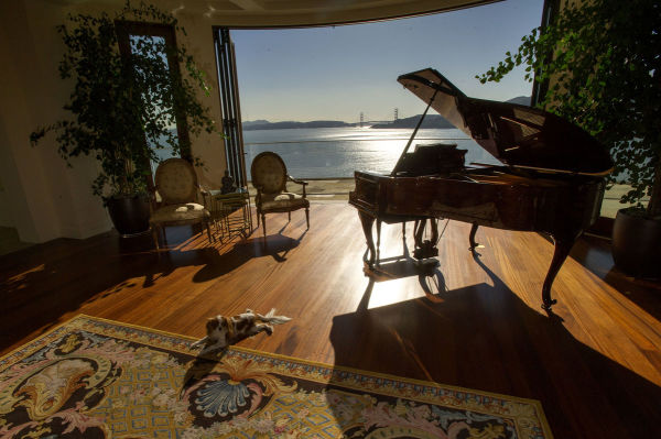 A Marin County Piano Room