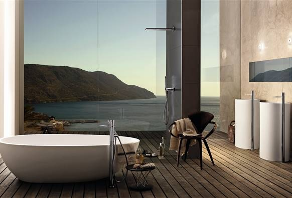 Bathroom with a View