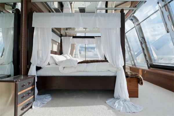 Bedroom in rooftop flat. London.