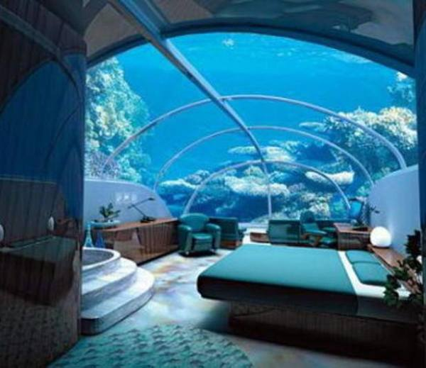 Luxury at par underwater bedrooms for Underwater bedroom designs