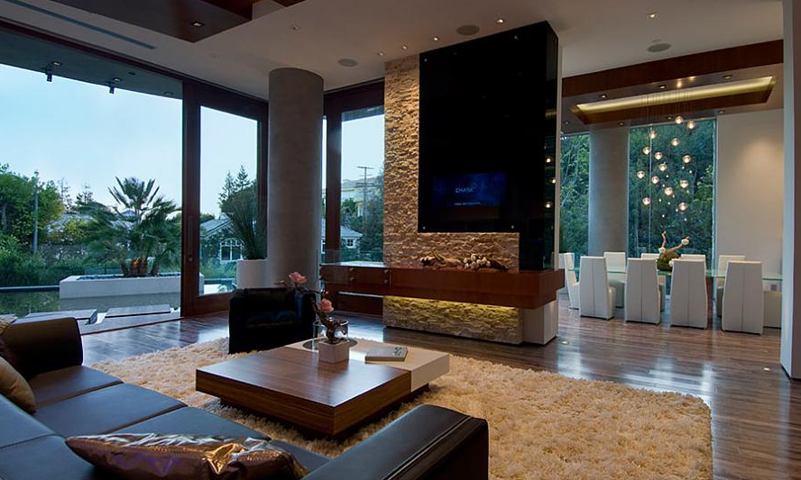 Bill gates 39 s home gallery interior design mag for Bachelor apartment vs studio