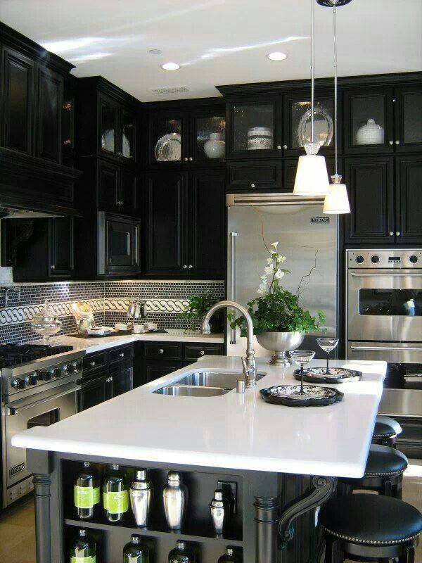 Black kitchen designs 3 interior design mag for Kitchen ideas magazine