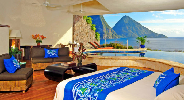 Care for an indoor-outdoor pool in your bedroom? Dropping panties in Saint Lucia