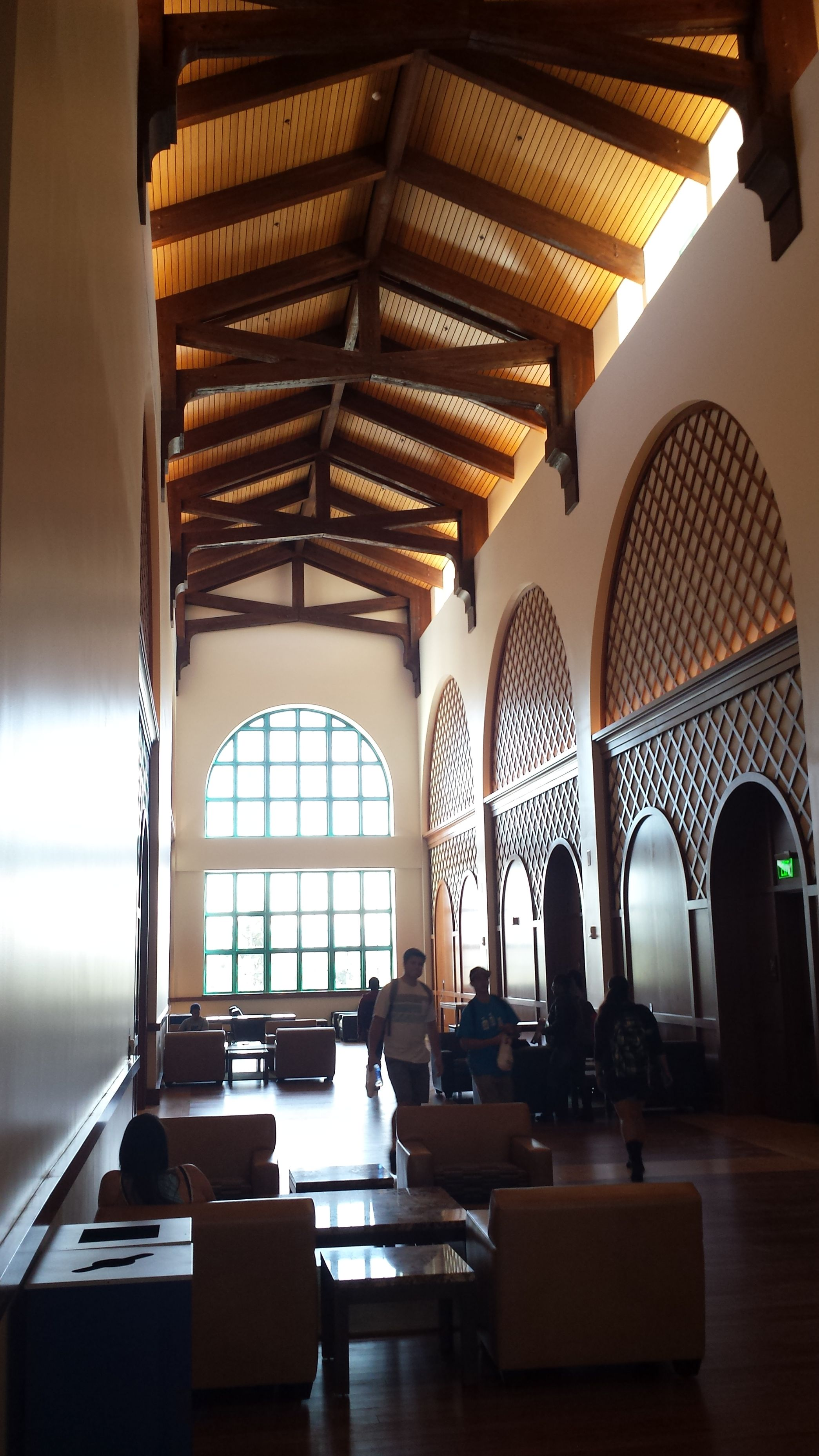 Foyer of the montezuma hall in the new student union at san diego ...