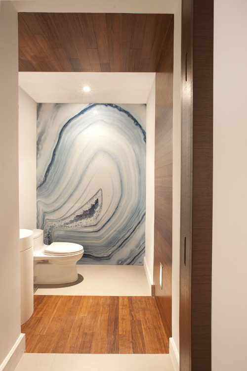 HUGE geode in bathroom