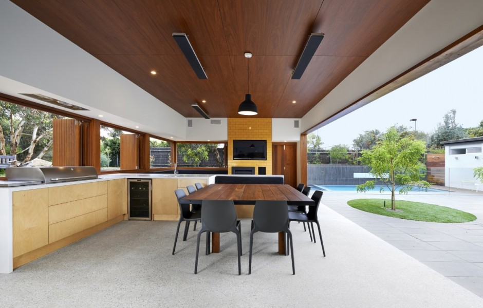 Kitchen Open To Private Courtyard Melbourne Australia