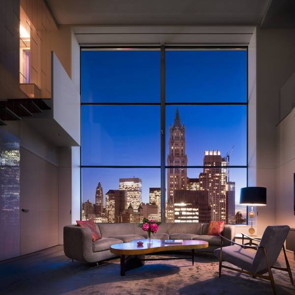 Living room of a NY Penthouse