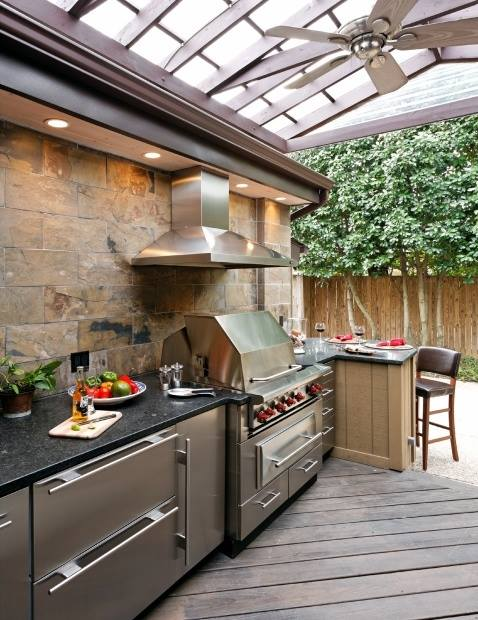 20 modern outdoor kitchen ideas for Modern outdoor kitchen designs