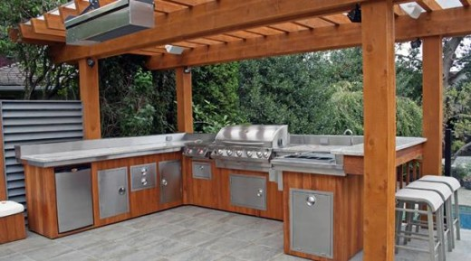 20 modern outdoor kitchen ideas for Outdoor kitchen backsplash ideas