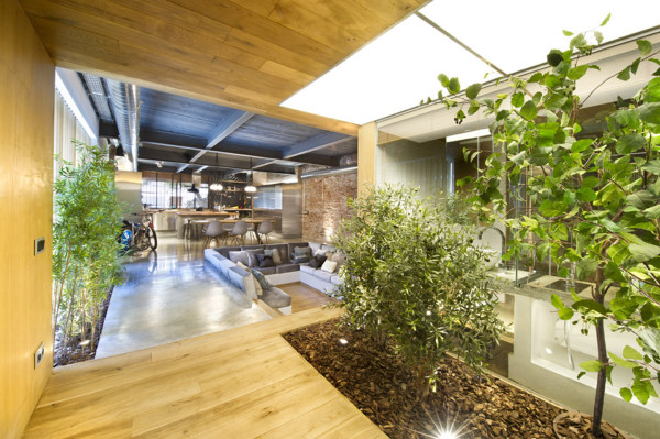 Poop behind some bushes in this Trendy, Barcelona Bachelor Pad