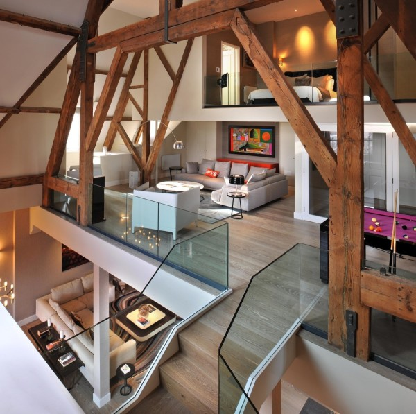 Revamped penthouse in St Pancras Chambers
