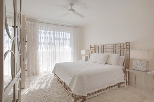 Bright and crisp looking white bedroom