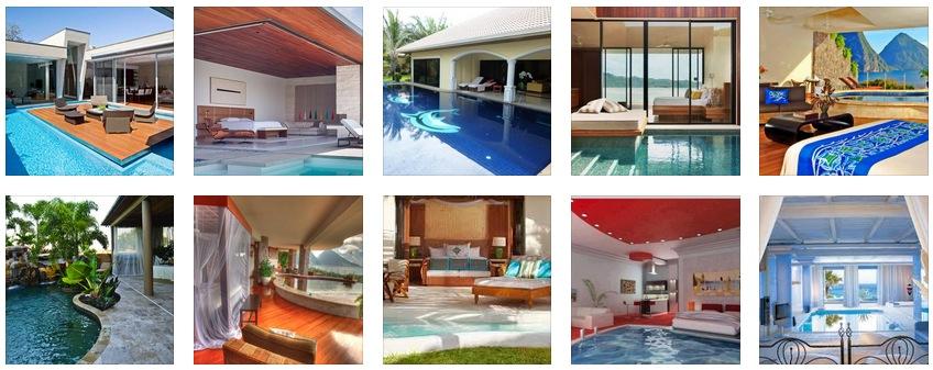 Pool Bedrooms