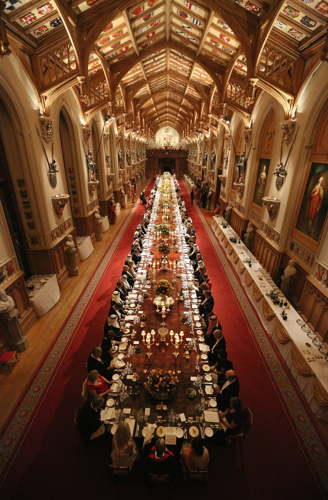 St George S Hall Windsor Castle State Banquet For The