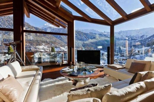 Swiss Chalet Livingroom