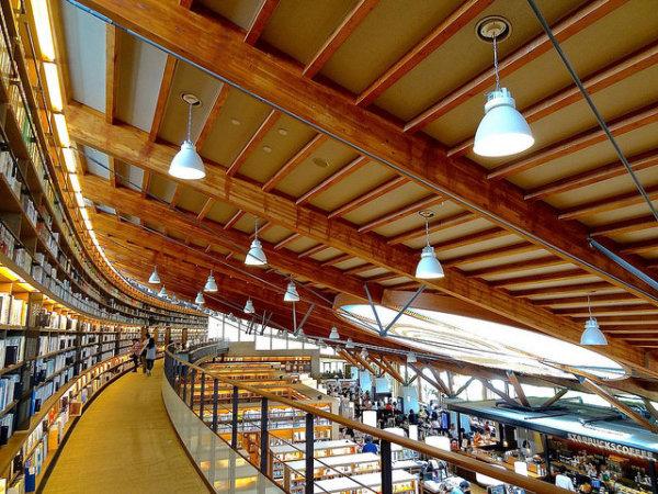 Takeo city library + Tsutaya book store + Starbucks store, Japan