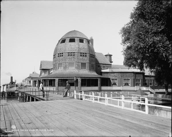 The Old club, St. Clair Flats, Michigan circa 1890- 1901