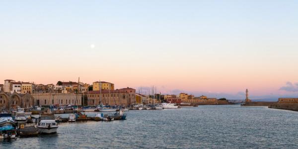 The Venetian port of Chania, Crete