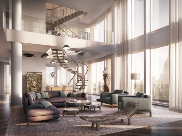 The living room from Rupert Murdoch's $57 million penthouse