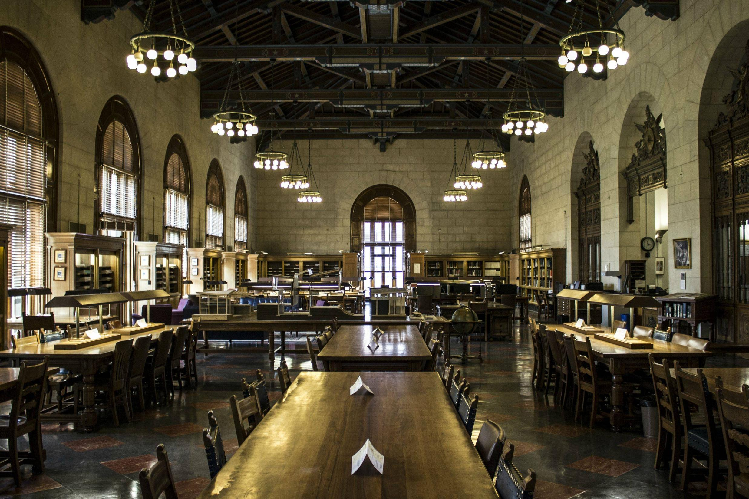 Ut Architecture Planning Library Battle Hall Interior Design Mag
